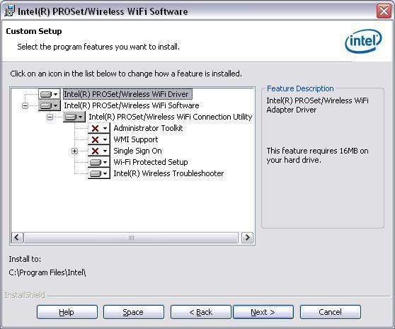 intel proset wireless driver installation blocked